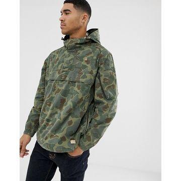 G-Star Xpo over head camo jacket in green