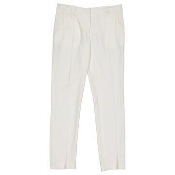 Emilio Pucci White Viscose Trousers