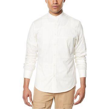 Sean John Mens Patchwork Button Up Shirt
