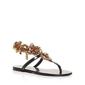 Dolce & Gabbana Women's Devotion Chain Thong Sandals