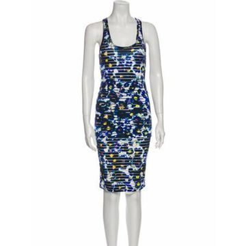 Printed Skirt Set Blue