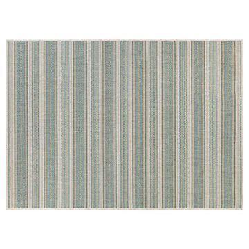 Couristan Monaco Marbella Striped Indoor Outdoor Rug, Blue, 2X3.5 Ft