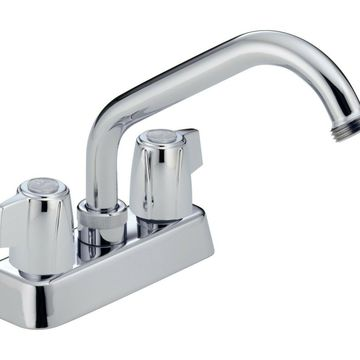 Peerless 2-Handle High-Quality Centerset Utility Brass Sink Faucet Color-Chrome