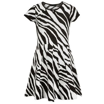 Big Girls Zebra-Print Dress