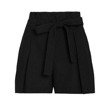 Alex Cotton-Linen Paperbag Shorts