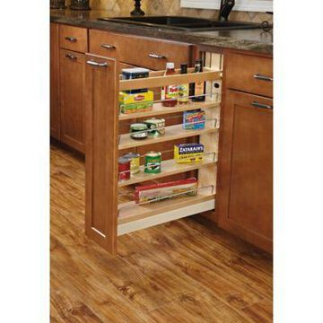 Rev-A-Shelf 448-BCBBSC-5C 5 in. Pull-Out Wood Base Organizer w/Ball-Bearing Soft-Close Slides