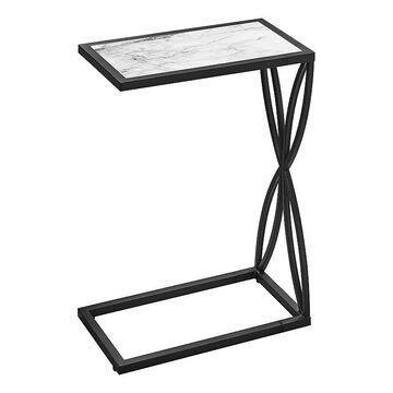 Monarch Twist C-Shape End Table, White