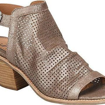 Sofft Womens Milly Leather Open Toe Casual Slingback