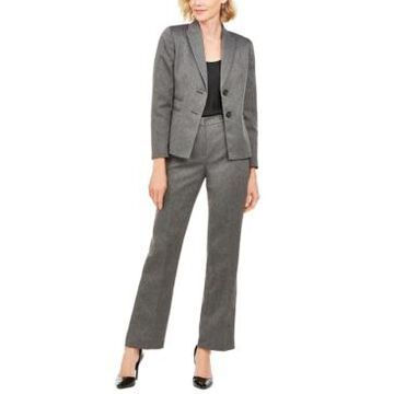 Le Suit Petite Herringbone Pants Suit