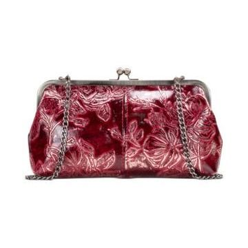 Patricia Nash Metallic Bark Leaves Potenaz Clutch