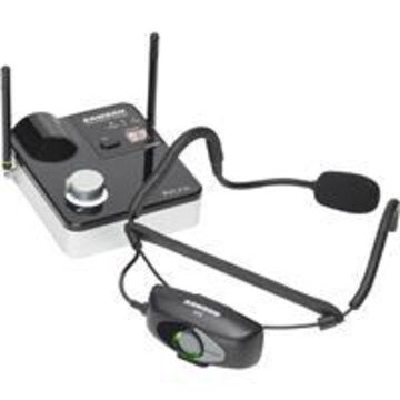 Samson AirLine 99m Micro UHF Wireless System, Includes Qe Fitness Headset Microphone, AR99m UHF Micro Receiver, AH9 Micro Transmitter, Frequency Band K: 470 to 494MHz