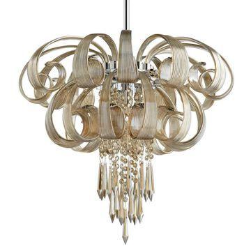 "Cyan Design 05946 Cindy Lou 9 Light 23"" Wide Abstract Chandelier Chrome Indoor Lighting Chandeliers"