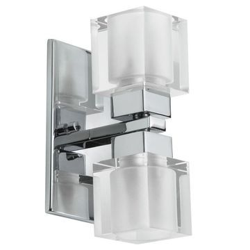 Dainolite 2-light Crystal Cube Wall Sconce
