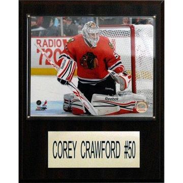 C&I Collectables NHL 12x15 Corey Crawford Chicago Blackhawks Player Plaque