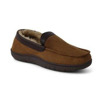 Weatherproof Vintage Men's Faux-Shearling Moc-Toe Slippers