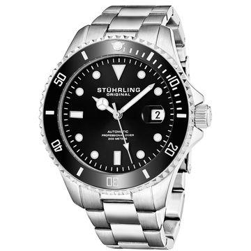 Stuhrling Original Men's Automatic Stainless Steel Divers Bracelet Watch