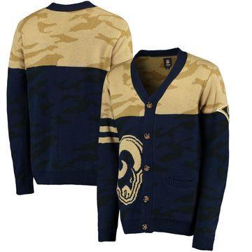 Los Angeles Rams Klew Camouflage Cardigan - Navy