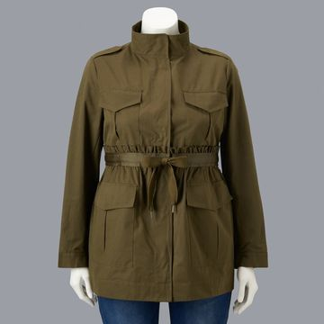 Plus Size Simply Vera Vera Wang Drawstring Utility Jacket