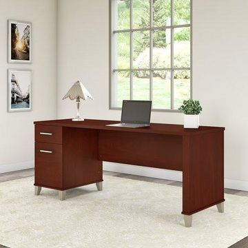 Bush Furniture Somerset 72W Office Desk with Drawers in Hansen Cherry
