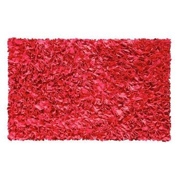 The Rug Market 4-Shaggy Raggy Rug, Red, 2'8
