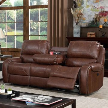 Furniture of America Breg Transitional Power Reclining Sofa