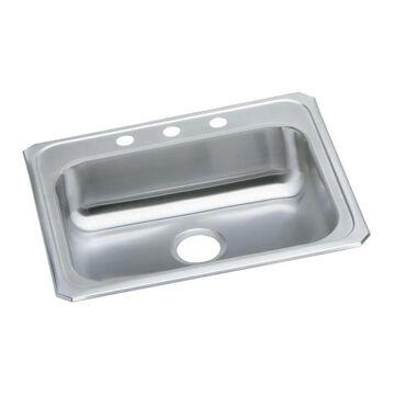 "Elkay Celebrity Stainless Steel 25"" x 21-1/4"" x 5-3/8"", Single Bowl Top Mount Sink"