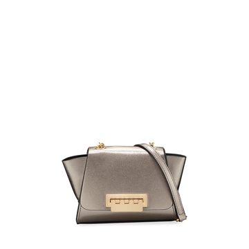 Eartha Metallic Leather Crossbody Bag