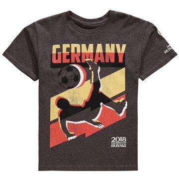 Germany National Team Jagged Line T-Shirt Heathered Charcoal
