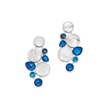 Ippolita Sterling Silver Wonderland Chandelier Earrings with Mother-of-Pearl Doublet in Blue Moon