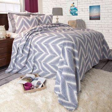 Somerset Home 3pc Oriana Chevron Quilt Bedding Set