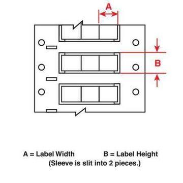 BRADY HX-125-2-BK-3 Wire Sleeve