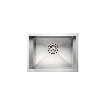 Whitehaus WHNCM2015 Commercial Single Bowl Undermount Sink - Brushed Stainless Steel