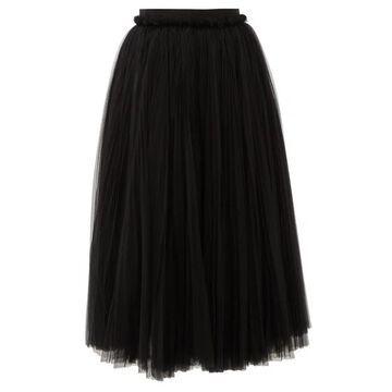 Dolce & Gabbana - Layered Tulle Midi Skirt - Womens - Black