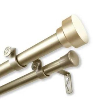 InStyleDesign Beret 1 inch Diameter Adjustable Double Curtain Rod