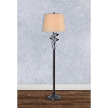 Vine Blackened Oil Rubbed Bronze 57-inch Floor Lamp