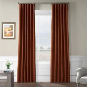 Exclusive Fabrics Bellino Blackout Curtain (50 X 96 - Warm Ember)