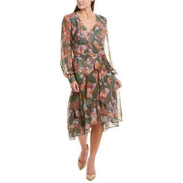 Badgley Mischka Wrap Dress