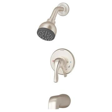 Symmons Origins Satin Nickel 1-Handle Bathtub and Shower Faucet (Valve Not Included) Stainless Steel | S9602PLR1.5TRMSTN