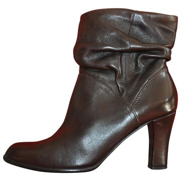 Robert Clergerie Brown Leather Ankle boots
