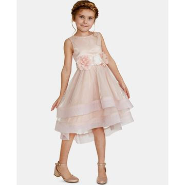 Toddler Girls Floral-Trim Dress