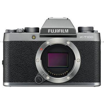 FUJIFILM X-T100 Mirrorless Digital Camera (Body Only, Dark Silver)