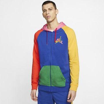 Jordan Mens Jordan Jumpman Classics Full-zip Hoodie - Mens Rush Blue Size XL