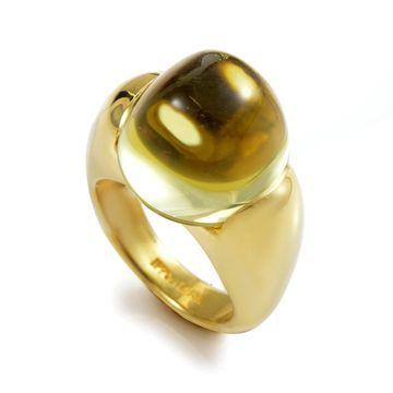 Ippolita Yellow Gold Lemon Quartz Ring