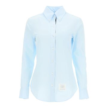 Thom browne poplin shirt with tricolor ribbon