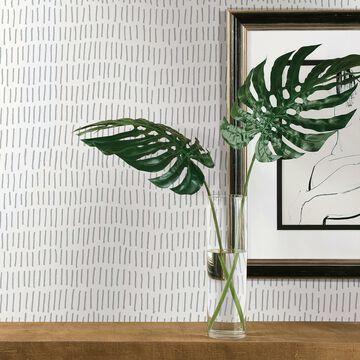 RoomMates& Tick Mark Peel Stick Wallpaper in Grey