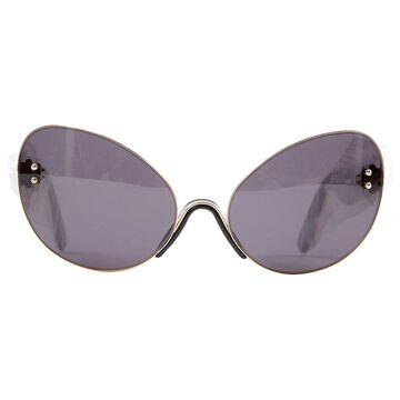Marco De Vincenzo Gold Metal Sunglasses