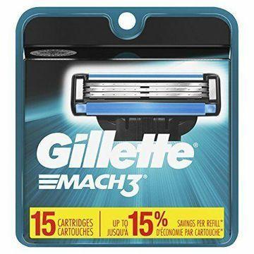 NEW Gillette Mach3 Mens Razor Blade Refills 15 Count Mens Razors Blades