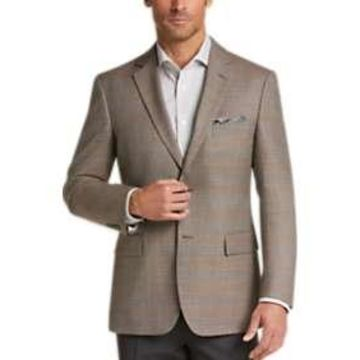 Pronto Uomo Platinum Modern Fit Sport Coat Tan Plaid