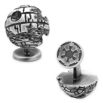 Star Wars Silver-Plated 3D Death Star Cufflinks