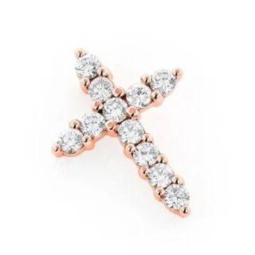 Luxurman 14k Gold 1ct TDW Round Diamond Cross Pendant